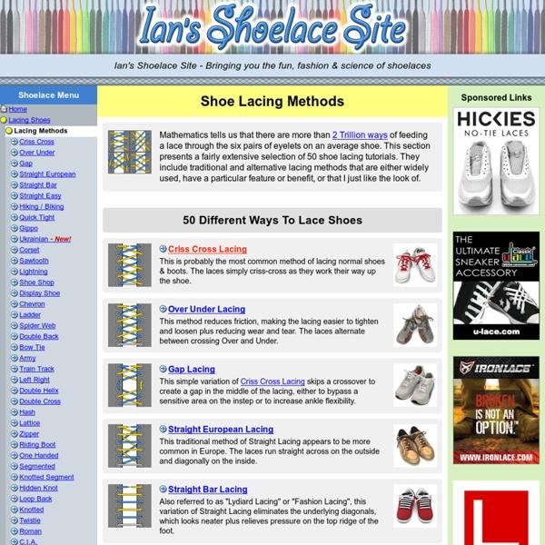 Shoe Lacing Methods