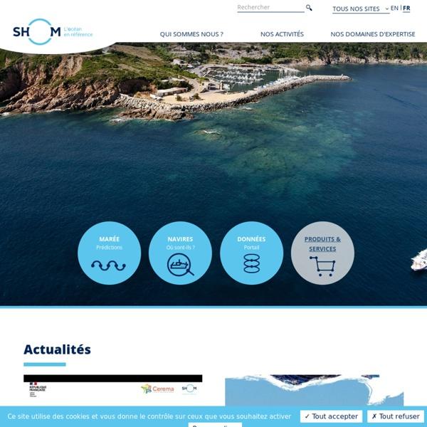 SHOM - Service Hydrographique et Océanographique de la Marine - Informations nautiques, cartes marines pour navigation