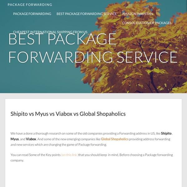 Fwd US - packageforwarding