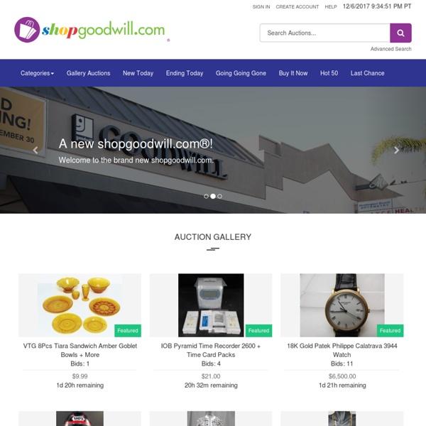 Shopgoodwill.com - Welcome