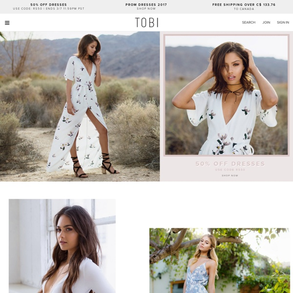 TOBI ~ Latest Fashion at Amazing Prices ~ 50% Off First Order ~ Free Worldwide Shipping