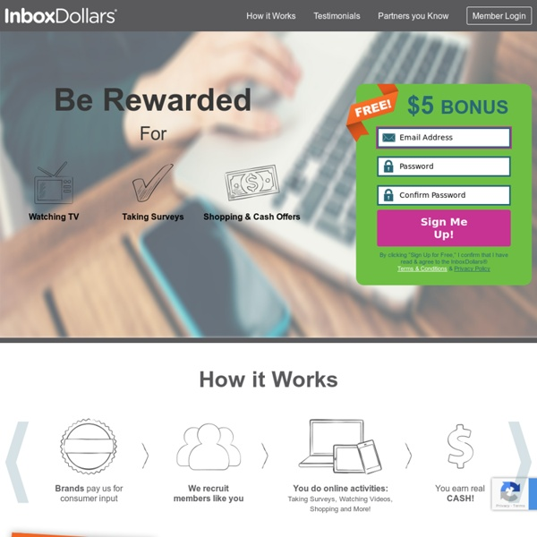 InboxDollars® - Earn Cash for E-Mail, Surveys, Games, and More!