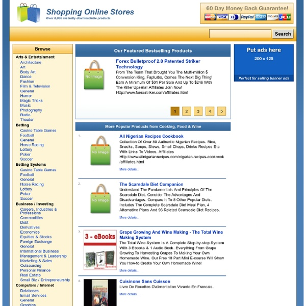 Shopping Online Stores