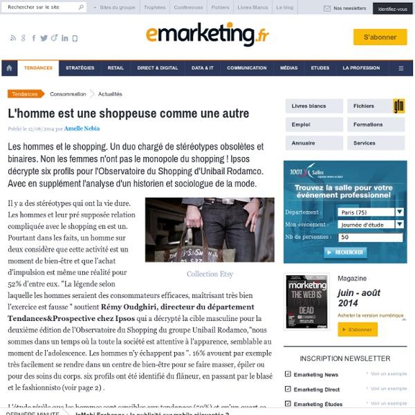 Les hommes et le shopping : 6 profils par Ipsos et Unibail Romdaco - Observatoire du Shopping