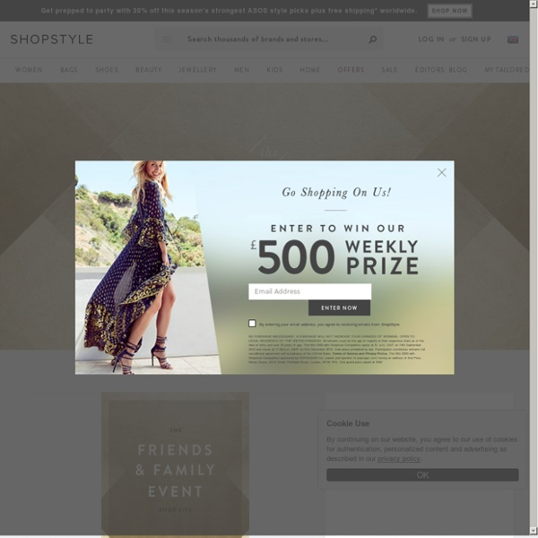 ShopStyle UK for Fashion and Designers - Shoes, Jewellery, Dresses & Clothes