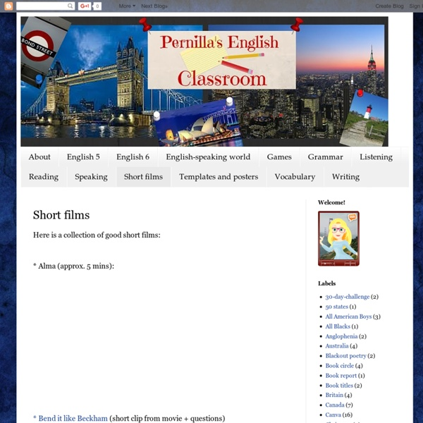 Pernilla's English Classroom: Short films