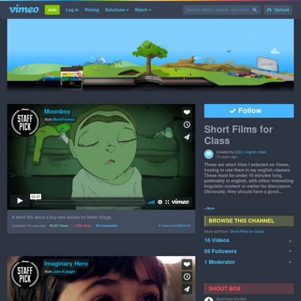 Short Films for Class on Vimeo