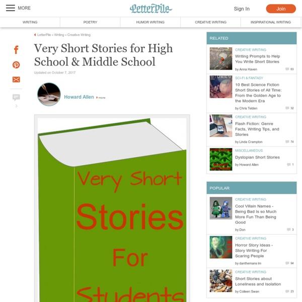 Very Short Stories For High School Middle School Pearltrees