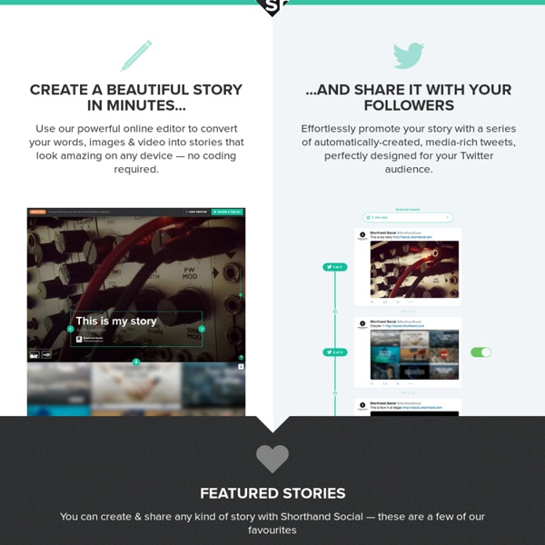 Social — Create stories that are made to be shared