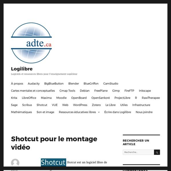 Shotcut pour le montage vidéo