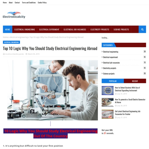 Top 10 Logic Why You Should Study Electrical Engineering Abroad