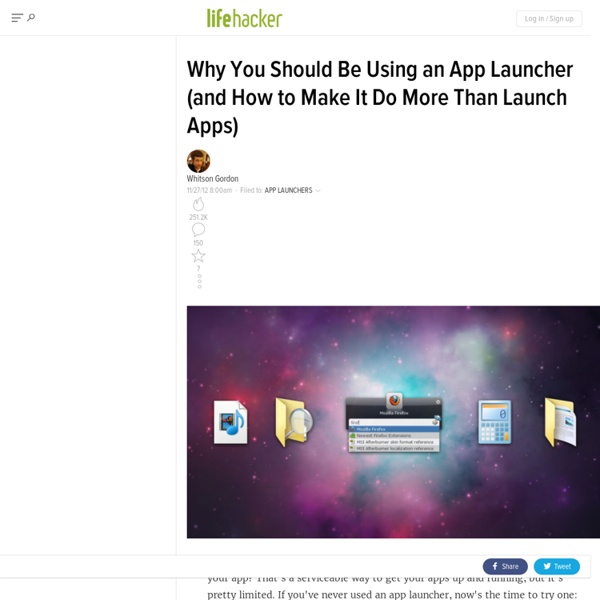 Why You Should Be Using an App Launcher (and How to Make It Do Anything You Want)