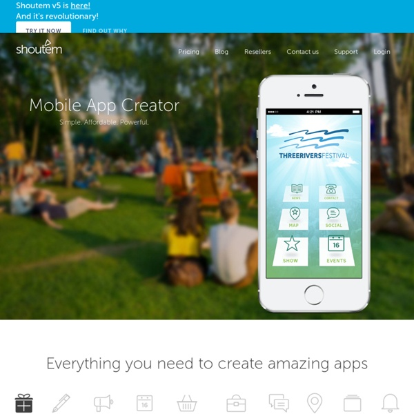 ShoutEm – shows you how to make an App with our App Creator