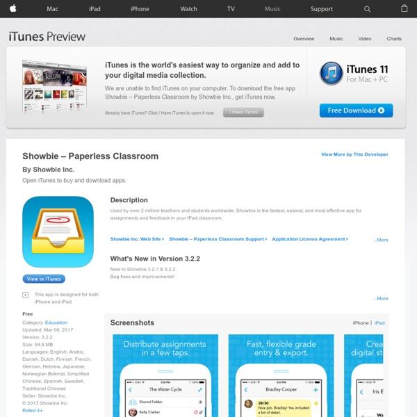 Showbie (app) - Pour échanger des documents avec les élèves