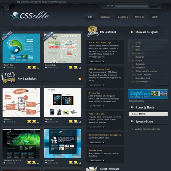 CSSelite.com – CSS Gallery » Showcasing the best in CSS web design and development.