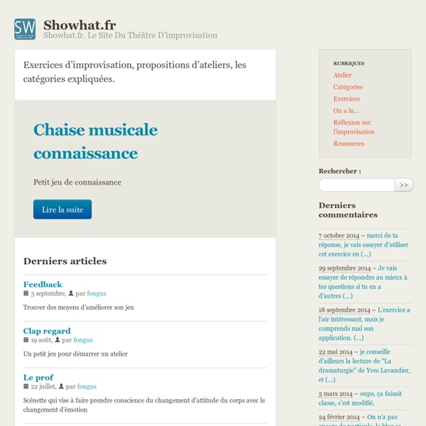 Showhat.fr - Showhat.fr. Le site du théâtre d'improvisation