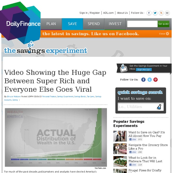 Video Showing the Huge Gap Between Super Rich and Everyone Else Goes Viral