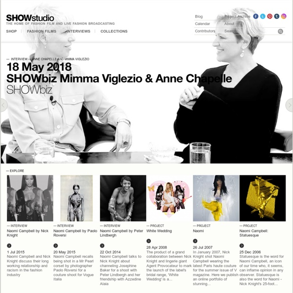 SHOWstudio - The Home of fashion film and Live Fashion Broadcasting