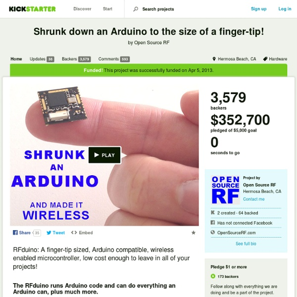 Shrunk Down An Arduino To The Size Of A Finger-tip! By