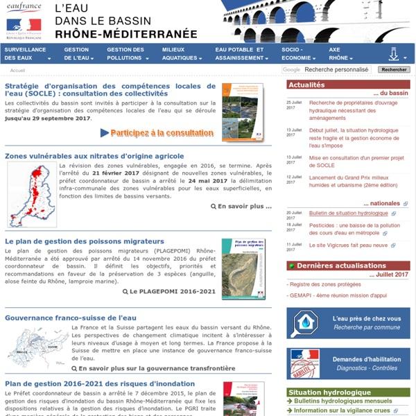 SIE - L'eau dans le bassin Rhône Méditerranée