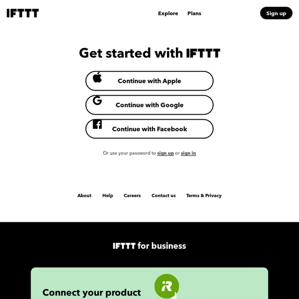 IFTTT Sign in