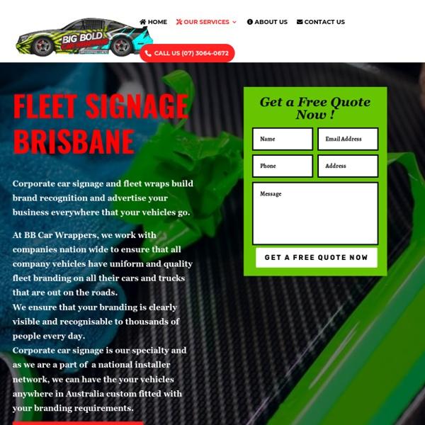 Fleet Signage Brisbane