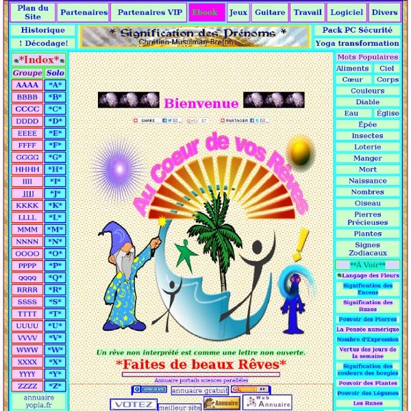 Signification-Rêve:Dictionnaire des rêves