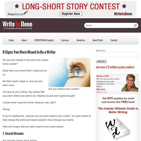 8 Signs That You Were Meant to Be a Writer