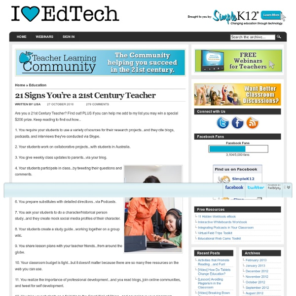 21 Signs You're a 21st Century Teacher