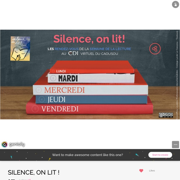 SILENCE, ON LIT ! by cdi on Genial.ly