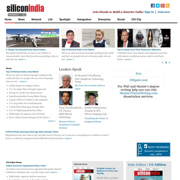 SiliconIndia : The Largest Community of Indian Professionals