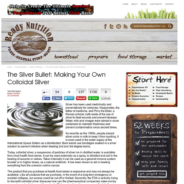 The Silver Bullet: Making Your Own Colloidal Silver