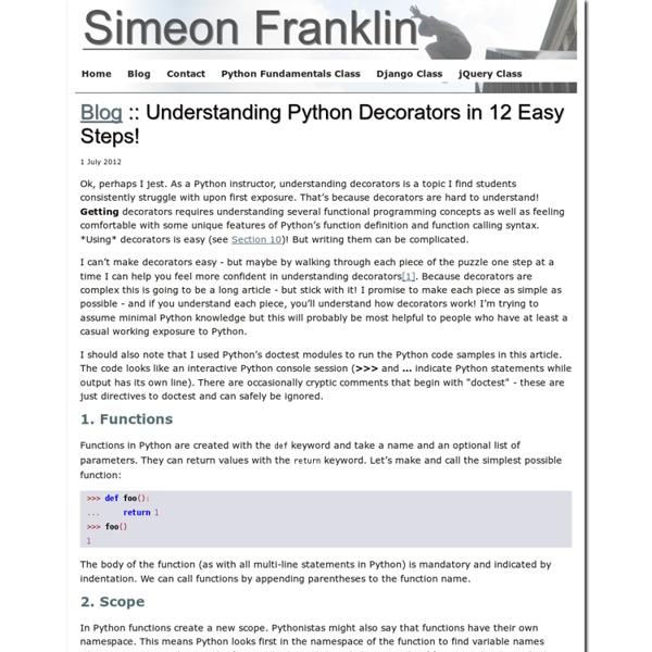 Understanding Python Decorators in 12 Easy Steps!