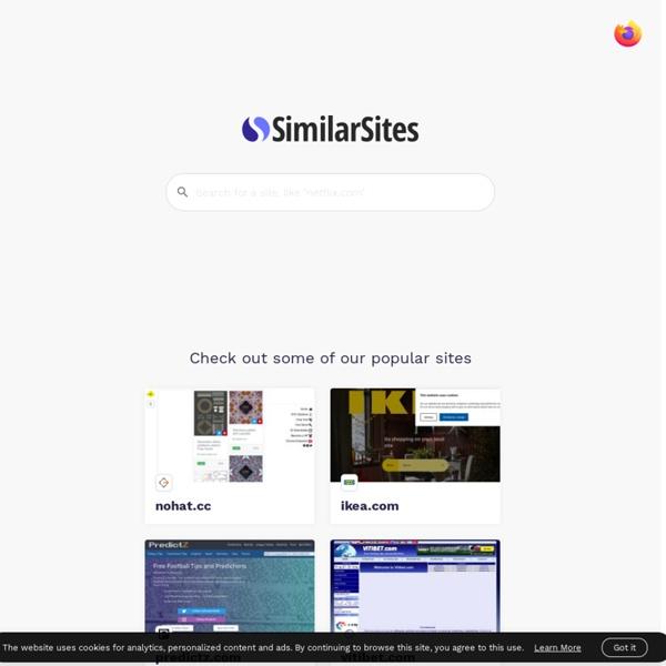 SimilarSites.com - Easily Find Similar Websites