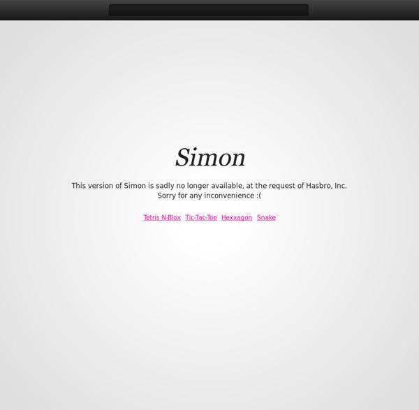 Simon - Play the classic Simon memory game