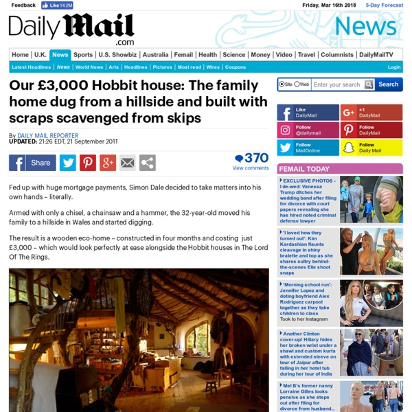Simon Dale: How I built my hobbit house in Wales for just £3,000