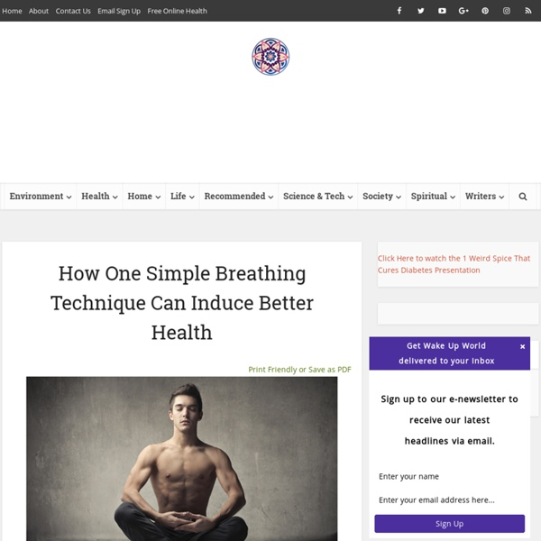 How One Simple Breathing Technique Can Induce Better Health