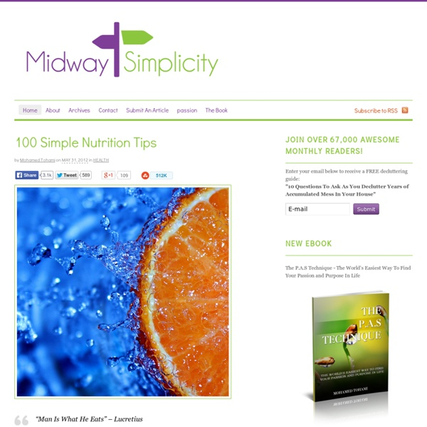 100 Simple Nutrition Tips