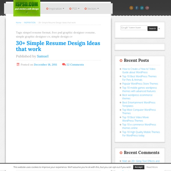 30+ Simple Resume Design Ideas that work
