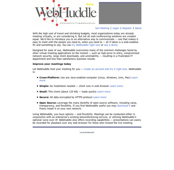 Simple, Small, Secure - WebHuddle
