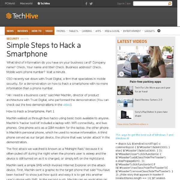 Simple Steps to Hack a Smartphone