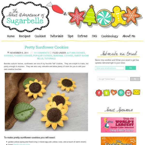 Simple Pretty Sunflower Cookies