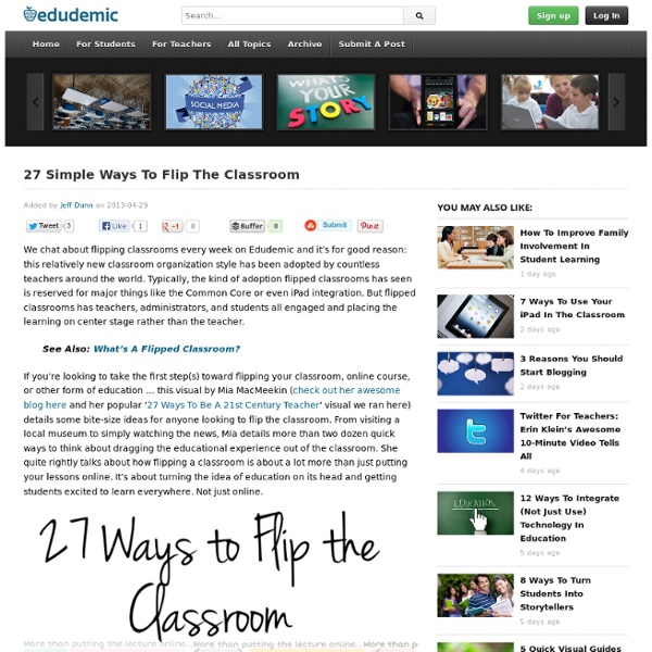 27 Simple Ways To Flip The Classroom