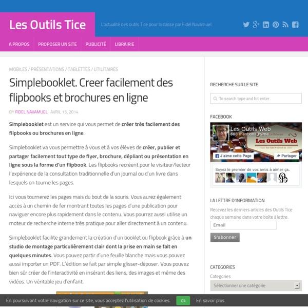 Simplebooklet. Creer facilement des flipbooks et brochures en ligne