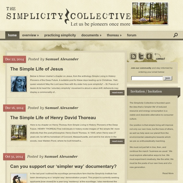 Simplicity Collective - Join the Simple Living Movement