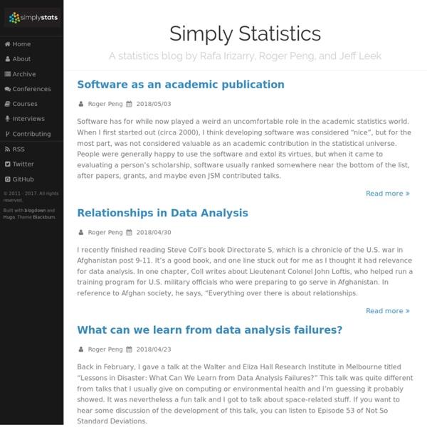 Simply Statistics