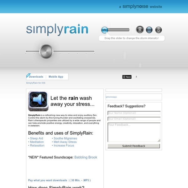 SimplyRain - The Best Free Rain Generator on the Internet.