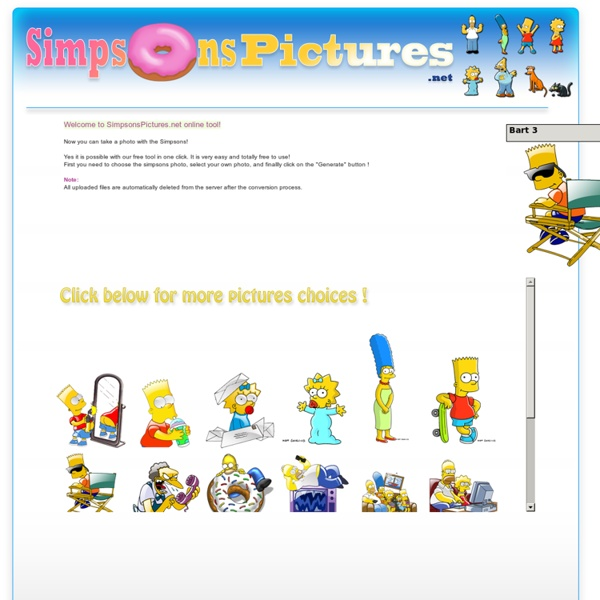 The Simpsons Pictures - Generate Online your picture with the Simpsons