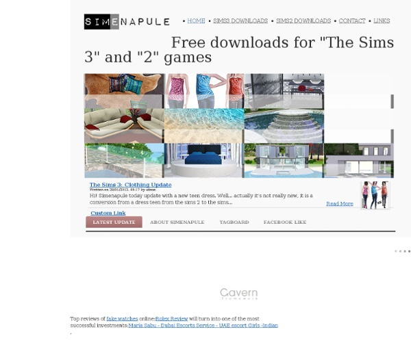 Sims 3 Downloads and free stuff