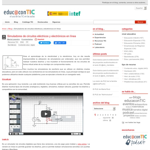 Simuladores de circuitos eléctricos y electrónicos en línea